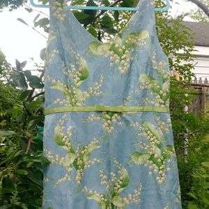 LILY OF VALLEY Blue *Tea Party* Dress L/XL 14P 14